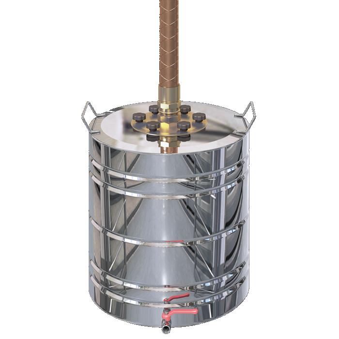 Бак для самогонного аппарата из водонагревателя чертеж медного самогонного аппарата